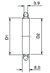 KF Aluminium Centering Rings with Viton O Rings