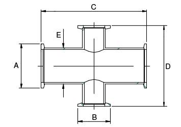 KF Reducing 4 Way Crosses