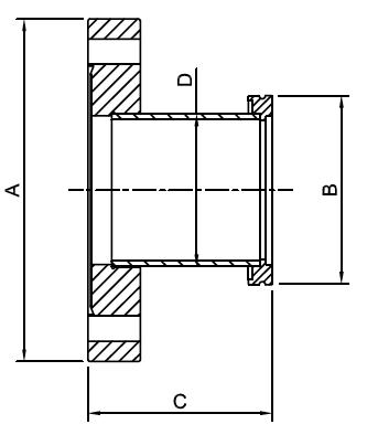 ISO TO CF Tubulated Adaptors