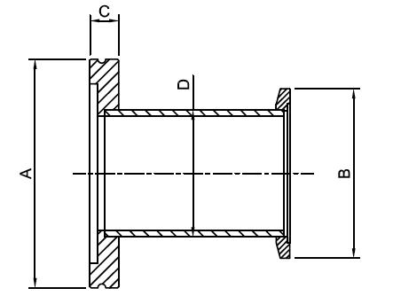 ISO to KF Adaptors Tubulated