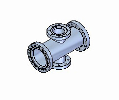 CF Unequal Tees, 2 Flanges Rotatable
