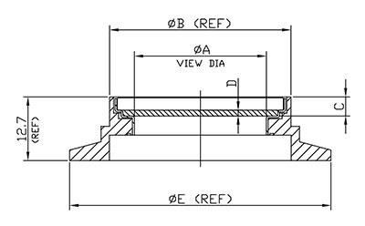 KF Vacuum Viewports